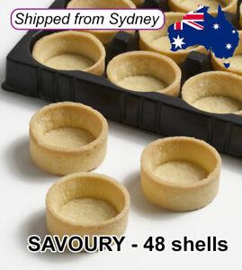 MINI Round SAVOURY Tart Shells Tray Dessert Buffet 4cm - Just Fill - 48 shells