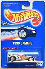 HOT WHEELS 1991 BLUE CARD 1993 CAMARO #242 W/ UH WHEELS 03 W+