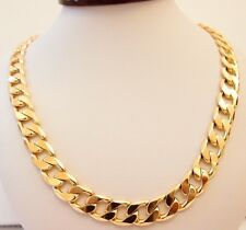 18K Yellow Gold Filled Chain Link Necklace (Stamped Italy 18KGL)