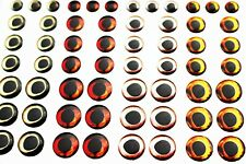 72 pcs 4 Colors 6/8/10mm 4D fish eyes Realistic Holographic Artificial Lures Eye