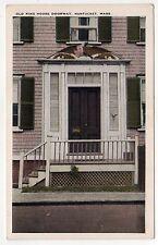 NANTUCKET Island MASSACHUSETTS PC Postcard OLD KING HOUSE DOORWAY Mass MA