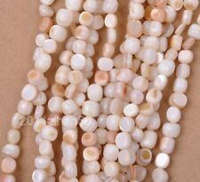 1 strand 14 inches Natural shell charm irregular beads spacer loose bead 4-8mm
