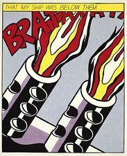 Roy Lichtenstein As I opened Fire III 1964 Lithographie Bild Grafik