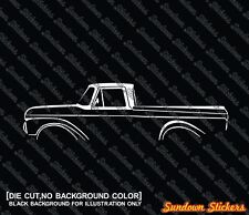 2X Car silhouette stickers - for Ford F100 (1961-1966) | classic pickup truck