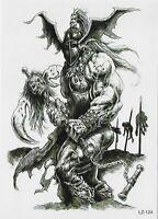 Helden Skull Einmal Tattoos Temporary Tattoo Temporäre Tattoo Body Sticker 21x15