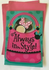 Hallmark Birthday Greeting Card for Kids - Minnie Mouse (with Removable Mirror)