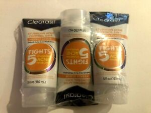 Clearasil Ultra Acne Treatment 5in1, Weekly Scrub (Pack of 3) 5 Oz Each