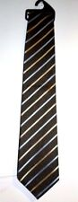 NUOVA Cravatta da uomo marrone, blu e crema STRIPY da & SPENCER MARKS