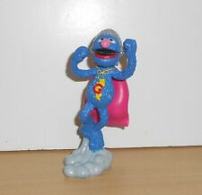 SESAME STREET Super GROVER GUALTER MONSTER Toy Figure Figurine Muppets