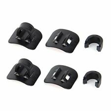 4 - Jagwire Alloy 3M Stick-On Bike Housing / Hose Cable Guides w/ C-Clips Black