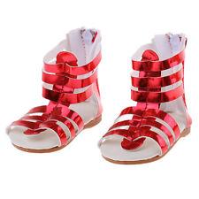 Chaussures de cuir PU sandales rouges vêtements pour 18 '' AG American Doll