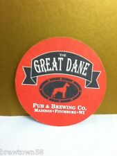 The Great Dane Pub and Brewing Company Madison Fitchburg WI round coaster 1 R5