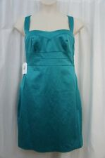 Jessica Simpson Dress Sz 14 Everglade Green Solid Sleeveless Cocktail Party