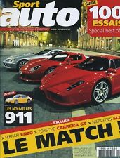 SPORT AUTO n°509 de Juin 2004 FERRARI ENZO PORSCHE CARRERA GT MERCEDES SLR