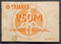YAMAHA V50M Motorcycle Manual Handbook 1977 #2J62819920