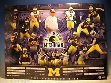 2009 University of Michigan Football Poster + BONUS