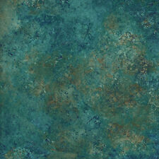 Teal Marbled Stone Marble, Stonehenge Oxydized Copper, 39300 69 By 1/2 yard~