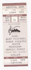 Sonny Rollins Dime Jazz Festival Ticket Stub 1999 Original