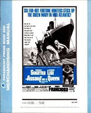 ASSAULT ON A QUEEN pressbook, Frank Sinatra, Virna Lisi, -----PLUS POSTER-----