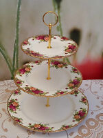 "Royal Albert ""Old Country Roses""  XL 3-tier Cakestand"