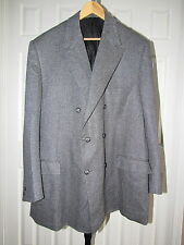 Paul Cicchini Dormeuil 100% Cashmere Double Breasted Sports Coat Jacket 2XL