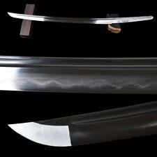Clay Tempered1095 Carbon Folded Steel Blade For Japanese Samurai Wakizashi Sword
