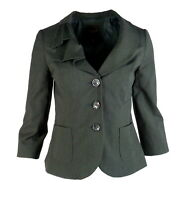 The Limited Collection Womens Blazer S Small Suit Jacket Black Pinstripe Stretch