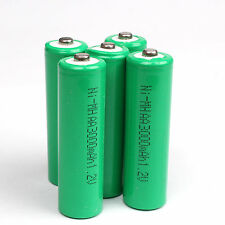 Green 5pcs AA 1.2V 3000mAh Ni-MH rechargeable battery Green for cell MP3 RC Toys