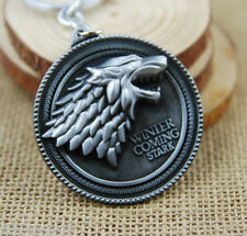 GAME OF THRONES Stark Figurine / Pewter color Key chain collectible cosplay
