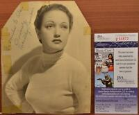 Dorothy Lamour Autographed Signed Vintage 5x7 Original Photo JSA COA Authentic