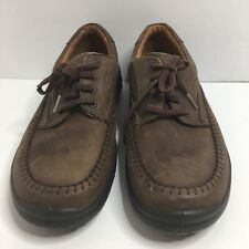 Ecco Shoes Lace Up Oxfords Men Size 44 US10-10.5 Brown Color