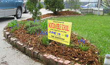 Custom Yard Signs/CorFlute Signs 2' X 1' ft DOUBLE SIDED PRINT with METAL STAKE