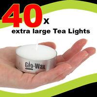 GLO-WAX EXTRA LARGE 10hr LONG BURN TEA LIGHTS TEALIGHTS