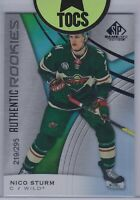 Nico Sturm 2019-20 SP Game Used Authentic Rookies 219/295 Minnesota Wild