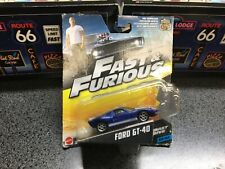 Mattel Hot Wheels Fast and Furious Ford GT 40 die cast car