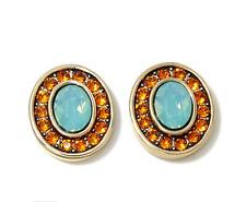 Heidi Daus Terra-Pin Crystal-Accented Turtle earrings Pierced