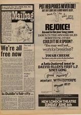 Daevid Allen Gong Fred Frith UK London show advert 1976 MM-ASDRT