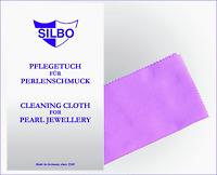 Silbo Pflegetuch für Perlenschmuck Edelsteine Putztuch Reinigungstuch f Schmuck