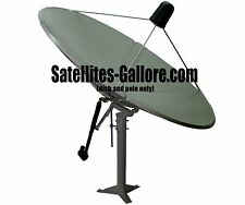 8ft (2.4m) C Band Polar Mount Solid Satellite Dish