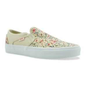 VANS Womens Asher Floral Trainers (Stone)