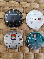 LOT 4 in 1, Dial's Vostok Boctok Soviet Watches 2414, 2416, 2409 Komandirskie