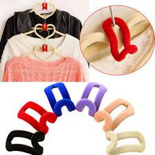 Creative Mini Flocking Clothes Hanger Hook Closet Organizer Wardrobe 10-50 PCS