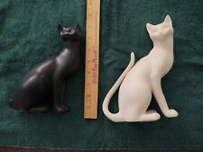 ^ Vintage Franklin Mint Counterpoint Ying Yang Cats (Black + White) 8 inch Euc