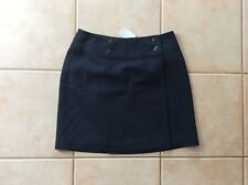 Sportsgirl Navy Career Work Wrap Short Skirt Size 10 NWT