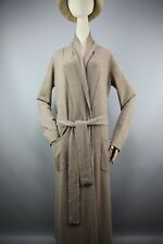 Magaschoni Cashmere Long tied waist Cardigan Iconic Biege Sweater  Size S