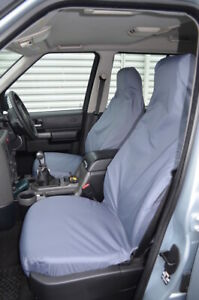 Grey Waterproof Seat Covers Front NoARMS for Land Rover Discovery Series 3 4
