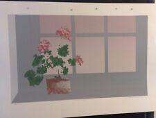 FINE ART PRINT: WINDOW WITH GERANIUM ARTIST PROOF BY DAVID E GORDON 1 OF 1