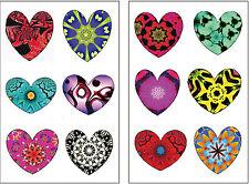 Premium Rainbow Heart Tattoos, Valentine's Day Party Favors, Temporary Tattoo