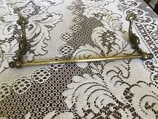 Vintage Brass Plated Towel Bar With Fishes
