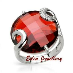 US$199 Gorgeous Brand New Cocktail Ring with Huge 15.09ctw Cubic Zirconia Size 8